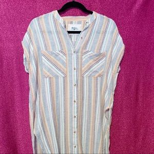 Holding Horses Anthropologie Striped Button Down